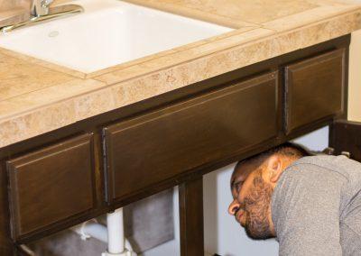 inspecting plumbing fixtures