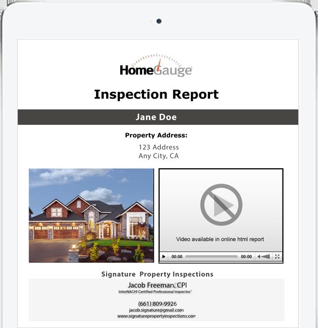 digital inspection report create request list